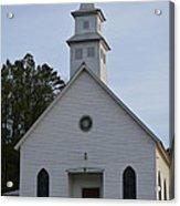 White Country Church Series Photo A Acrylic Print