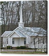 White Country Church Series Photo B Acrylic Print