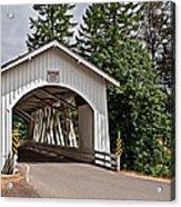 White Covered Bridge Hannah Bridge Art Prints Acrylic Print