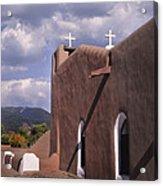 White Crosses At Taos Acrylic Print