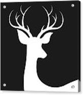 White Deer Silhouette Acrylic Print