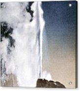 White Dome Geyser Yellowstone Np Acrylic Print