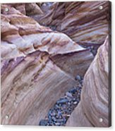 White Domes Slot Canyon - Vertical Acrylic Print