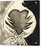 White Dove Art - Comfort - By Sharon Cummings Acrylic Print