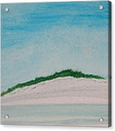 White Dunes Acrylic Print