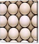 White Eggs In Carton Acrylic Print