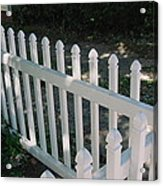 White Fence Provincetown Acrylic Print