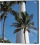 White Florida Lighthouse Acrylic Print