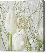 White Flowers Pii Acrylic Print
