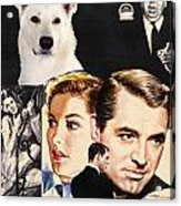 White German Shepherd Art Canvas Print - Suspicion Movie Poster Acrylic Print