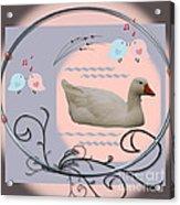 White Goose Series 1 Acrylic Print