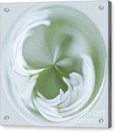 White Green And Round Acrylic Print