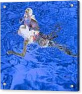 White Hair Blue Water 4 Acrylic Print
