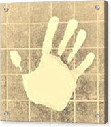 White Hand Sepia Acrylic Print