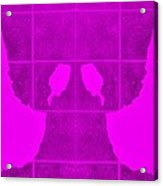 White Hands Purple Acrylic Print