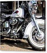 White Harley Acrylic Print