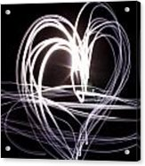 White Heart Acrylic Print by Aya Murrells