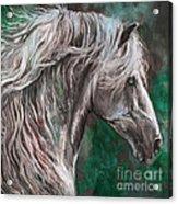 White Horse Painting Acrylic Print