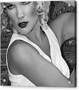White Hot Bw Palm Springs Acrylic Print