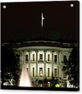 White House And Fountain Acrylic Print