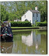 White House And House Boat Acrylic Print