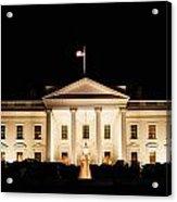 White House At Night Acrylic Print