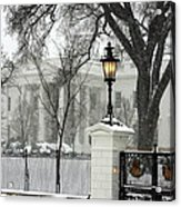 White House Christmas Acrylic Print