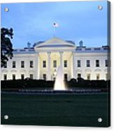 White House In Eveninglight Washington Dc Acrylic Print