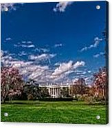 White House Lawn In Spring Acrylic Print