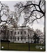 White House On A Cloudy Winter Day Acrylic Print
