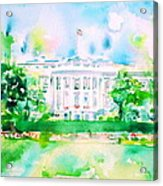 White House - Watercolor Portrait Acrylic Print