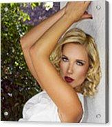 White Linen Palm Springs Acrylic Print