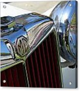 White Mg With Red Grille Acrylic Print