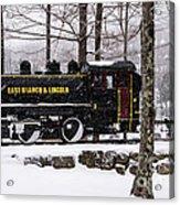White Mountains Railroad And Train Acrylic Print