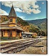 White Mountans Crawford Train Depot Acrylic Print