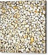 White Pebbles Acrylic Print