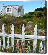 White Picket Fence In Mendocino Acrylic Print