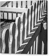 White Picket Fence Portsmouth Acrylic Print