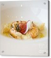 White Plate With Food Acrylic Print