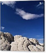 White Pocket In The Vermillion Cliffs Acrylic Print