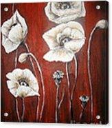 White Poppies Acrylic Print