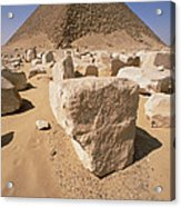 White Pyramid Of King Snefru Acrylic Print
