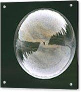White Reflections Acrylic Print