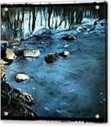 White River Flowing Acrylic Print