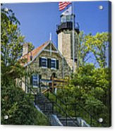White River Lighthouse In Whitehall Michigan No.057 Acrylic Print