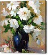 White Rose Elegance Acrylic Print