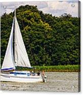 White Sailboat Acrylic Print