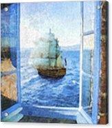 White Sails Acrylic Print