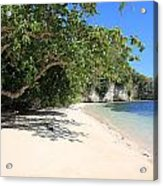 White Sand And Blue Sky Acrylic Print