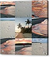 White Sand And Fire Water By Julia Fine Art  Acrylic Print